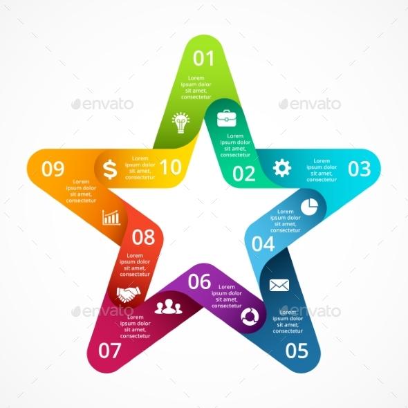 Star Symbol Infographic. PSD, EPS, AI