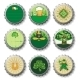 St Patrick's Day beer bottle caps set
