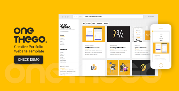 OneTheGo | Creative Agency Showcase Responsive Site Template