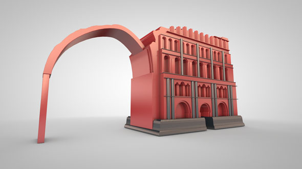 Taq Kasra Temple - 3DOcean Item for Sale