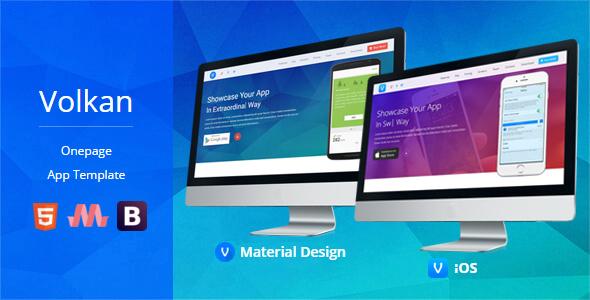 Volkan - Onepage HTML App Template