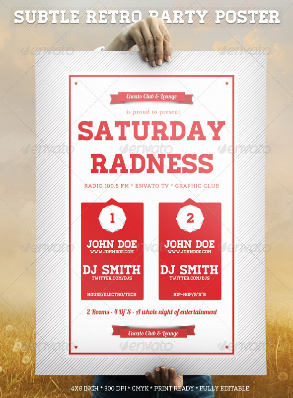 GraphicRiver Subtle Retro Party Poster 1591079