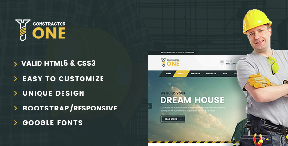 Constractor One - Construction & Home Renovation HTML5 Template