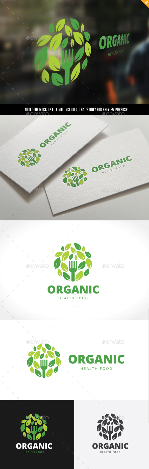 Organic Healthy Food Logo