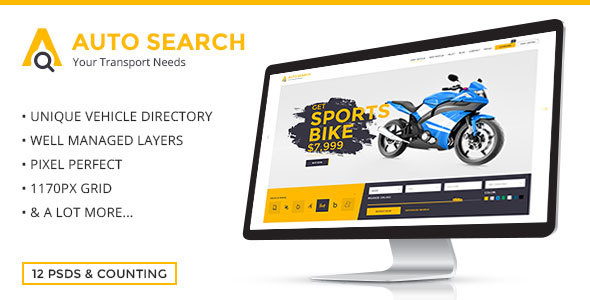 Auto Search - Modern PSD Template for Car and Auto Dealers