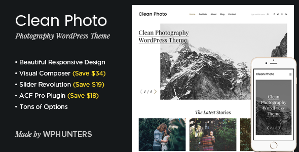 14 - Clean Photo - Photography Portfolio WordPress Theme