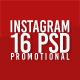 16 Instagram Multipurpose PSD Templates