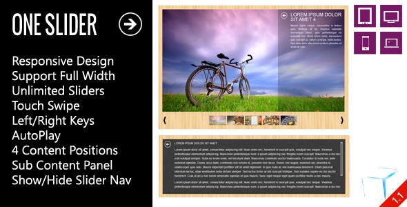 OneSlider - Interactive Responsive Slider