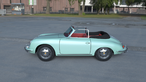 Porsche 356 Convertible HDRI - 3DOcean Item for Sale
