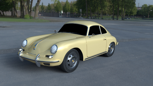 Porsche 356 Coupe HDRI - 3DOcean Item for Sale