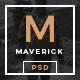 Maverick - Minimalist Blog/Magazine PSD