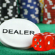 Gambling Red Dice Poker Cards and Money Chips 6