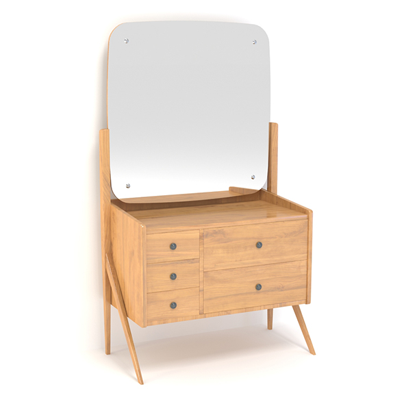 Retro Cupboard With Mirror #5 - 3DOcean Item for Sale