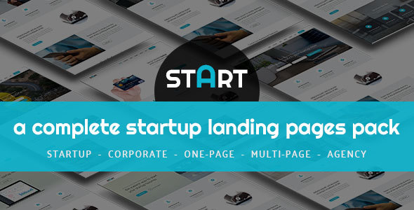 START - A Complete Startup Landing Pages Pack
