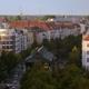 Berlin Panorama Evening of Schönhauser Allee Crossing