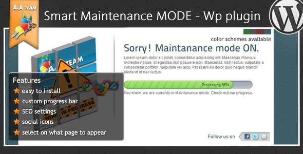 Maintenance Mode - Wordpress Plugin - CodeCanyon Item for Sale