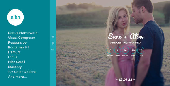 8 - Nikh - Wedding WordPress Theme