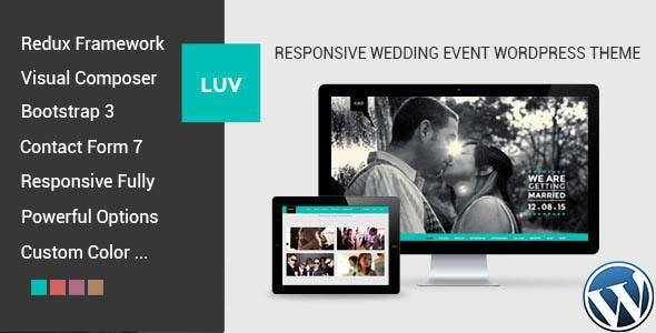 LUV - Responsive Wedding Event WordPress Theme