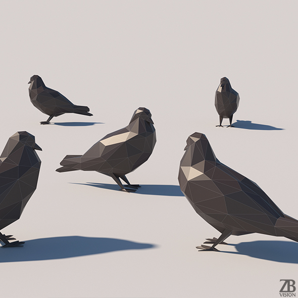 Lowpoly Pigeon 001 - 3DOcean Item for Sale