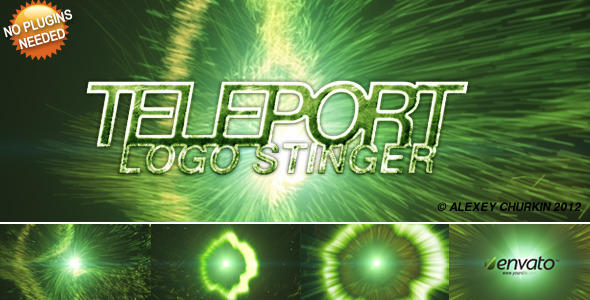 VideoHive Teleport Logo Reveal 1592765