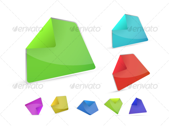 Collection of color stickers - Objects Vectors