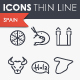 Spain Thinline Icons