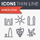 Barcelona Thinline Icons