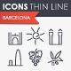 Barcelona Thinline Icons