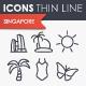 Singapore Thinline Icons