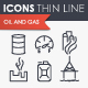 Oil and Gas Thinline Icons