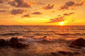 Colorful sunset in the tropical sea. Thailand - PhotoDune Item for Sale