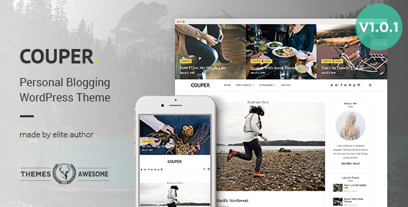 28 - Responsive Personal Blog Theme - Couper