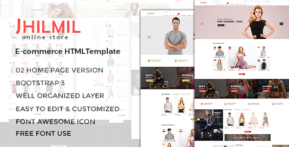 Jhilmil - eCommerce Bootstarp Template