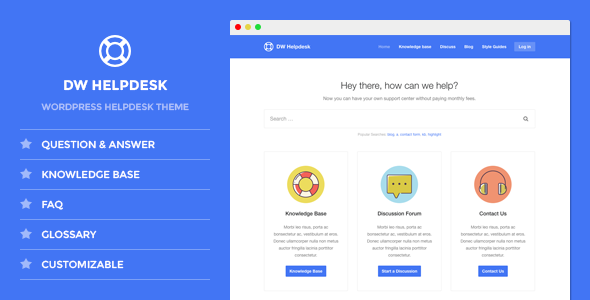 Knowledge Base Templates from ThemeForest