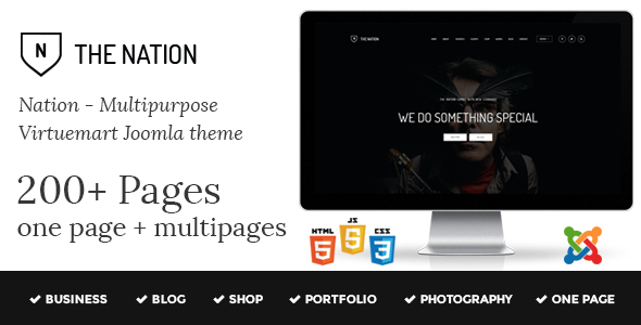 Nation - Multipurpose Virtuemart Joomla Template