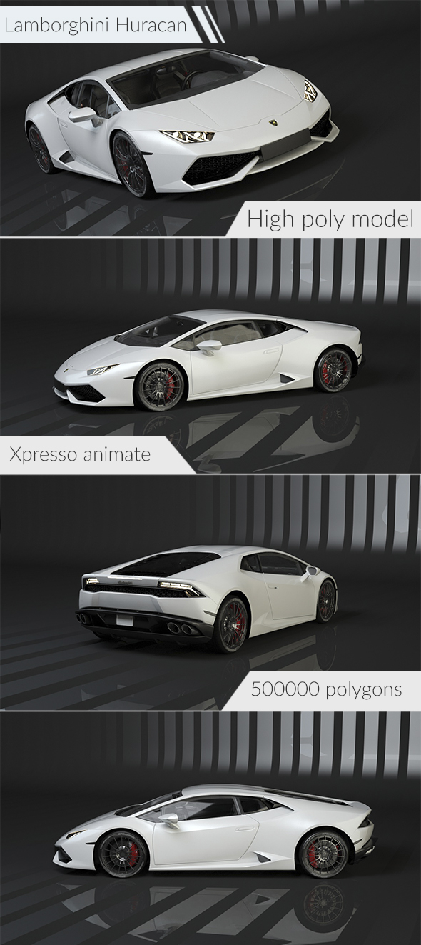 Lamborghini Huracan - 3DOcean Item for Sale