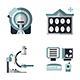 MRI Diagnostic Equipment Flat Vector Icons