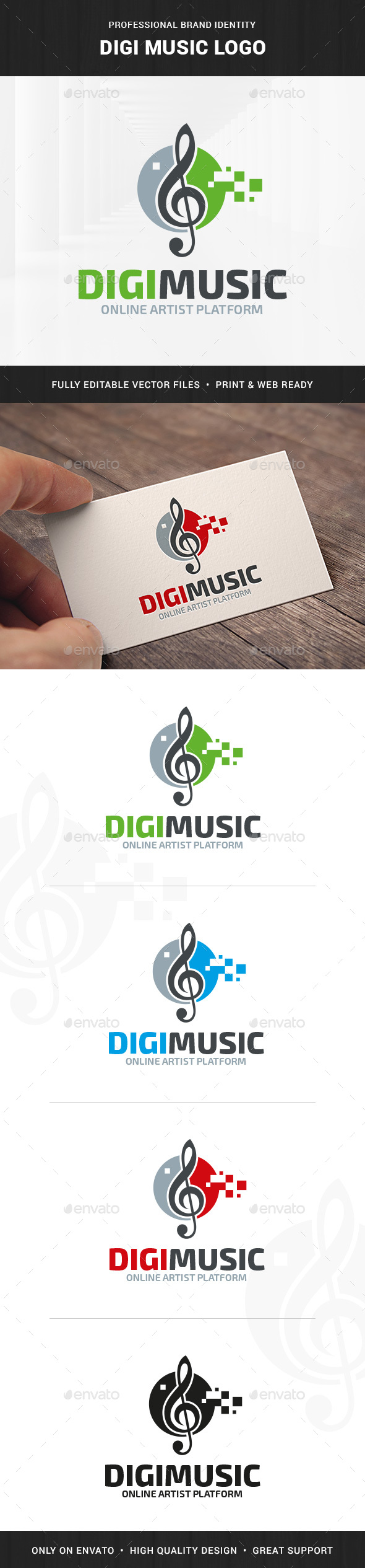 Digi Music Logo Template