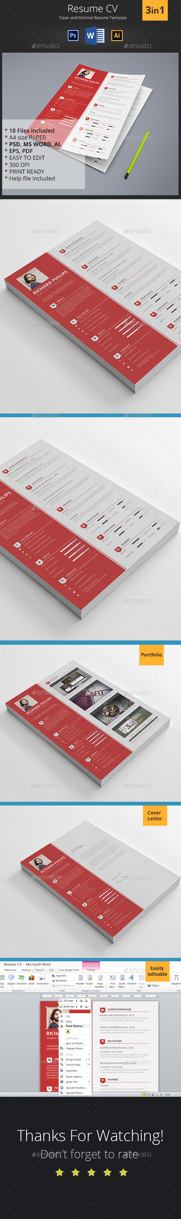 psd resume graphics designs templates from graphicriver