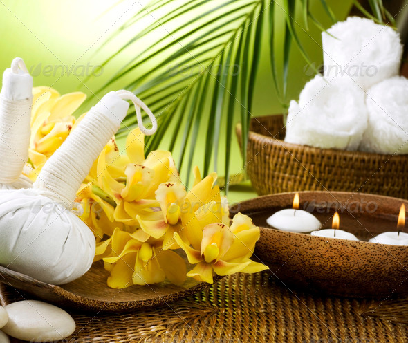Spa Settings. Thai Massage - Stock Photo - Images