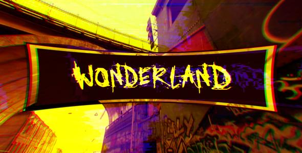 Wonderland (Glitch Art Kuvaesitys) - Grunge Video Näyttää After Effects Project Files
