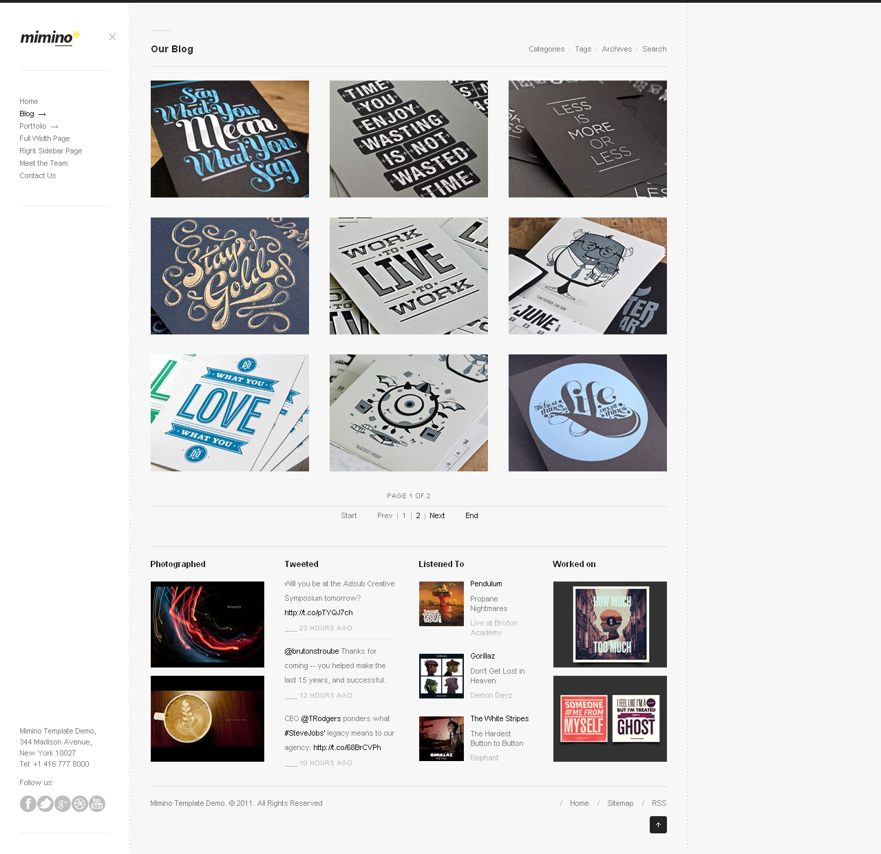 Mimino - Clean and Modern WordPress Theme