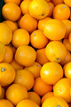 Fresh clementines on a market