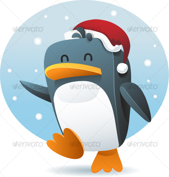 GraphicRiver Penguin with santa hat 62504