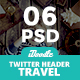Travel Agency Twitter Headers - 06 PSD