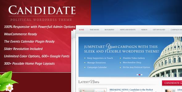 4 - Candidate - Political WordPress Theme