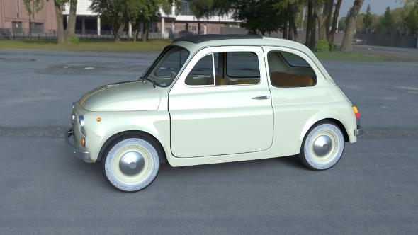 Fiat 500D Nuova 1960 with interior HDRI - 3DOcean Item for Sale