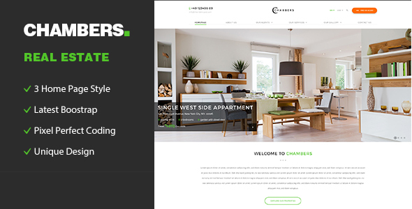 Chambers - Responsive HTML5 Template for Property Developers