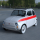 Fiat 500 Nuova Sport 1958 with interior HDRI 3D Model