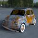 Fiat 500 Nuova 1957 rusty HDRI